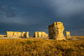 Monument Rocks and Brewing Sky print
