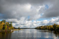 River,autumn,clouds,island,minnesota, superior national forest