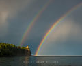 Double Rainbow over Split Rock print