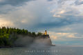 minnesota, lake superior, lighthouse, split rock, rainbow, clouds, fog