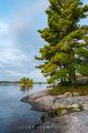 Island on Kabetogema Lake print