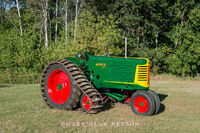 antique tractors,oliver, half track, model 77