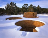 colorado, mesa verde, national park, snow, ruins