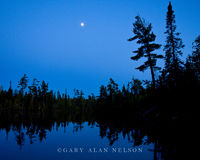 full moon, lake, minnesota, boundary waters