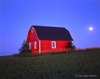 barn, minnesota, moonrise