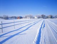 farm, minnesota, winter