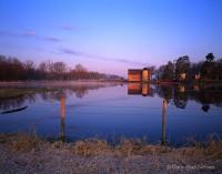 barn, reflections, minnesota, pond, rural