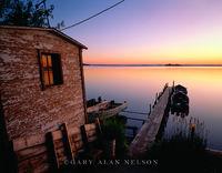 Sunrise,lake,minnesota, boathouse