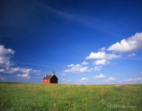 Minnesota, otter tail, schoolhouse, red, clouds