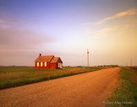 minnesota, schoolhouse, country road