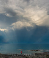 clouds,lake superior,minnesota,rainbow,state park,storm