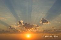 Setting Sun an Rays