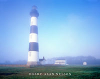 north carolina, cape hatteras national seashore, lighthouse, bodie island, fog