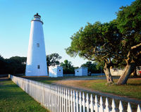 north carolina, cape hatteras national seashore, lighthouse, ocracoke lighthouse