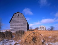 South dakota, farm, old dwelling
