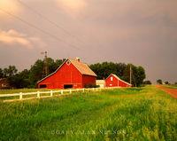 Farm and Menacing Skies