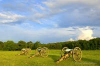 shiloh, tennessee, national military park, canons, peach orchard