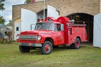 antique truck, International, fire truck