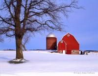snow, wisconsin, barn