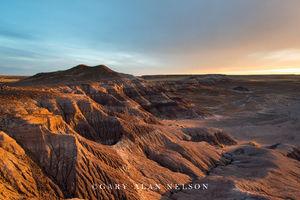 Petrified Forest National Park, national park, arizona, badlands, dusk