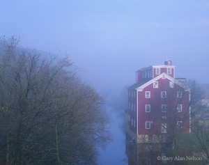 Grist Mill in Fog