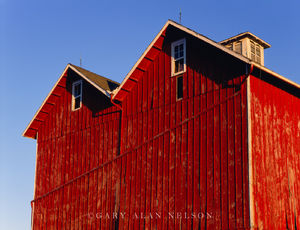 Muscatine County, Iowa, barn, gable roof