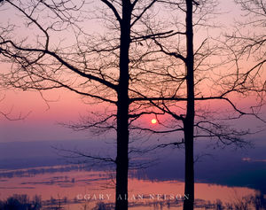 Pikes Peak State Park, Iowa, mississippi river, sunrise