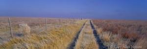 path, fence, prairie, kansas