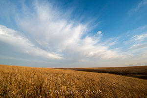 tallgrass prairie, flint hills, kansas, clouds