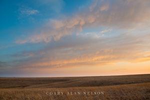 tallgrass prairie, flint hills, kansas, clouds, dusk