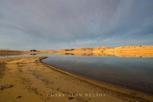 storm clouds, wilson lake, kansas, state park