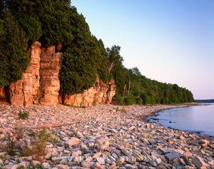 Fayette State Park, Michigan, lake michigan, clifffs
