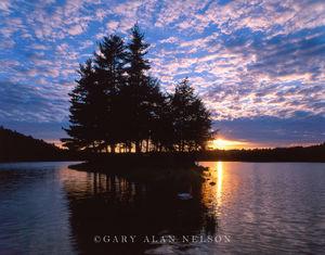Ottawa National Forest, Michigan, island, imp lake