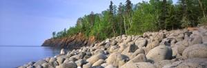 split rock, cobble beach, split rock lighthouse state park