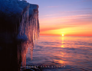 minnesota, lake superior, ice, dawn