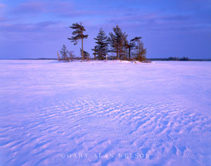 voyageurs national park, minnesota, snow, island