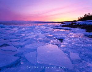 minnesota, lake superior, ice, dawn
