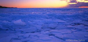 Blue Ice Shards on Lake Superior