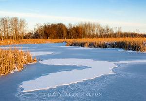 Snow Crescent at Carlos Avery