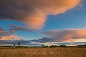 Afterglow over a Prairie