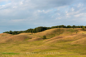 Rolling glacial moraine on the prairie