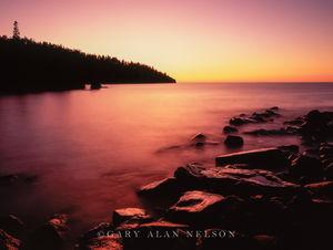 Sunrise,lake,lake superior,minnesota,state park, reflections