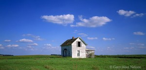 Grant County, Minnesota, clouds, abandoned homestead