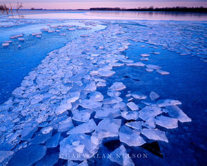 broken ice, minnesota river, wildlife area, lac qui parle state park