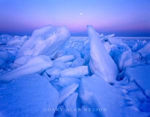 minnesota, lake superior, full moon, ice