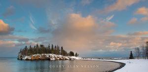lake superior,minnesota,split rock,state park,winter