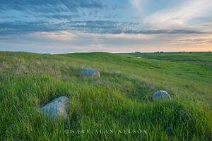 Glacial erratics, prairie, Wildlife Management Area, Minnesota