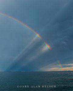 rainbow, minnesota, sun rays, lake superior