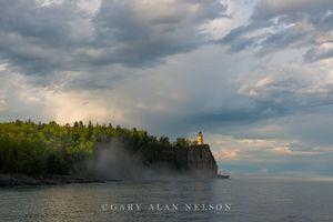 fog, clouds, minnesota, split rock, lake superior, lighthouse