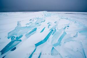 Stacks of Blue Ice on Lake Superior